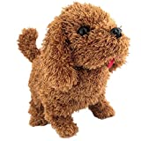 Kanee Realistic Teddy Dog Lucky Newest Handmade Stuffed Pet Toy, Plush Stuffed Animal Puppy for Kids Electronic Plush Toy Not Include Battery