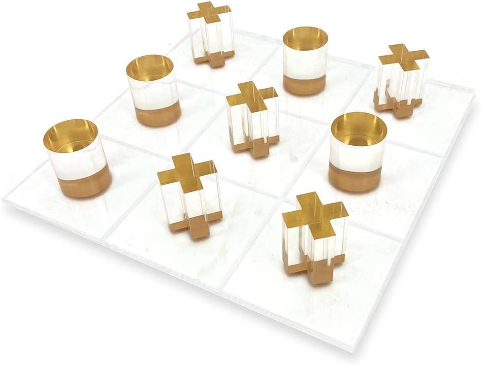 Max 82% OFF OnDisplay 3D Luxe Acrylic Tic Gold Max 65% OFF Tac Set Toe