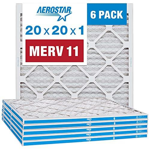 Aerostar 20x20x1 MERV 11 Pleated Air Filter, AC...