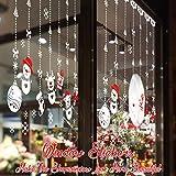Schneeflocken Aufkleber, TedGem Schneeflocken Fensterbild, Weihnachtsdeko, Weihnachten Fensterdeko Set, DIY Weihnachtsdeko, Winter Dekoration für Türen, Schaufenster, PVC Fensterdeko Set und mehr - 2
