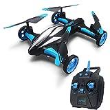 MBEN Drone à Distance, Avion gyroscopique à 6 Axes terrestres/aériens, Jouet 2 en 1 pour Enfants, adapté aux Cadeaux pour Enfants,Blue