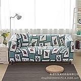 AHKGGM Funda de sofá Estampada Pájaro Animal Azul Claro y Blanco 2 plazas: 145-185cm