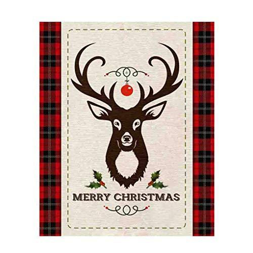 Springs Creative Christmas Merry Deer 36in Panel Multi Quilt Fabric