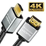 Cable HDMI 2M,POSUGEAR Nylon Trenzado Cable HDMI de Alta Velocidad 2.0,Ultra HD 4k 2160p 60hz,3D,Full HD 1080p,ARC,HDR,Soporta Ethernet,HDMI para HDTV,Proyectores,PS3,PS4,Xbox One,Xbox 360 etc