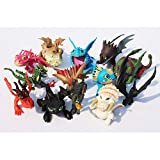 13pcs/lot Action Figure Toys Hiccup Toothless Skull Gronckle Deadly Nadder Dragon Model Dolls