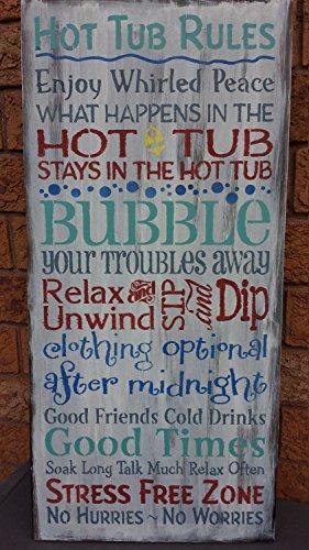 Norma Lily Hot Tub Schild zur Einweihung, Gastgeberin, Geschenk für Whirlpool-Regeln