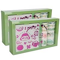 2箱和紙マスキングテープセット美術工芸用かわいい和紙テープセット家庭用品