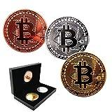 雑貨の国のアリス ビットコイン 3枚セット 金 銀 銅 金運 ゴルフマーカー bitcoin レプリカ 仮想通貨 収納ケース 雑貨 記念 AS-pa086