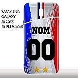 MYCOQUE Coque Samsung Galaxy J6 2018 / J6 Plus 2018 - Personnaliser Votre Maillot Foot France 2...