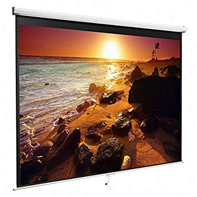 Amazon - Save 80%: 84 Inch Manual Pull Down Projector Projection Screen 16:9 Home Theater Movie