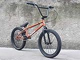 Fitness Deportes al aire libre Bicicletas BMX Freestyle de 20 pulgadas Bicis de acero cromo-molibdeno de alta resistencia Cuadro BMX Manivela de 3 secciones y 8 teclas con freno en U y cubierta sup
