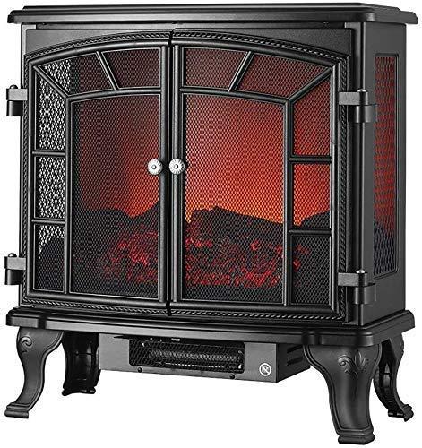 Yxxc Calentador, calefacción eléctrica por Chimenea - calefacción por Estufa eléctrica - decoración de Interiores calefacción por Chimenea con Estufa de leña Luz LED 2000W