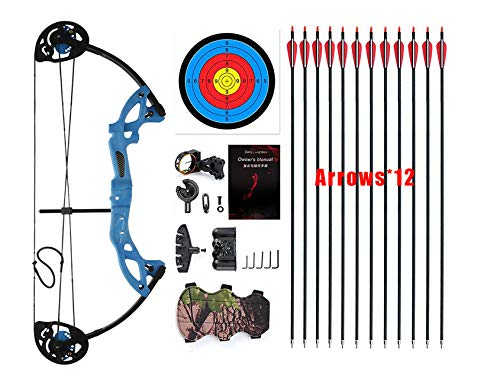 "PANDARUS Compound Bow Topoint Archery for Youth and Beginner, Right Handed,19""-28"" Draw..."