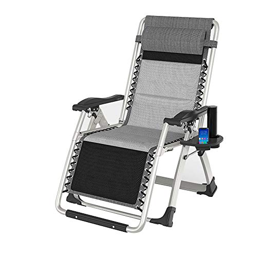 OuPai Sunloungers Zero Gravity Lounge Chair, Folding Patio Lawn Recliner Chairs with Headrest Side Table, Extra Wide Chaise Lounge for Poolside Outdoor Yard Beach, Support 550lbs