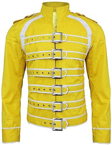 Freddie Mercury - Chaqueta de piel sintética para hombre, Chaqueta Freddie Mercury Amarillo, XS