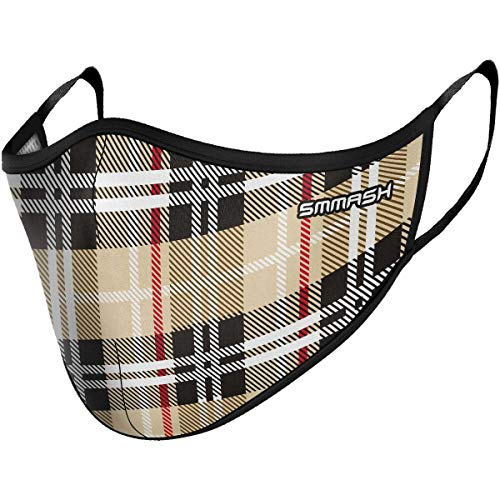 SMMASH Mundschutz Maske Wiederverwendbar, Hochwertiges Gesichtsmaske Waschbar, Multifunktional Trainingsmaske für Radfahren, Laufen, Staubschutzmaske für Damen, Herren (S/M, Urbane)