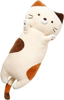 [Stylish Soda] 抱き枕 ぬいぐるみ 本体 だきまくら 猫 枕 ねこ エンジェル・ミケくん☆ (三毛猫,77cm)