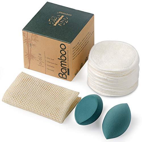 (45% OFF) 16 Bamboo Organic Reusable Makeup Remover Pads & Sponges Kit $7.69 Deal
