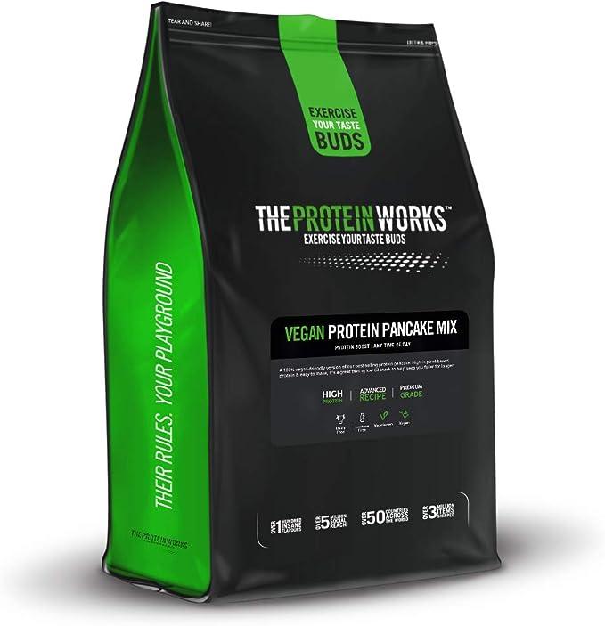 The Protein Works Tortitas Veganas Proteicas | Alto En Proteínas, 4 Tipos De Proteínas Vegetales, Bajo En Azúcar | Chocolate Con Avellanas 500 g