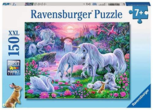 Ravensburger Kinderpuzzle 10021 - Einhörner im Abendrot - 150 Teile