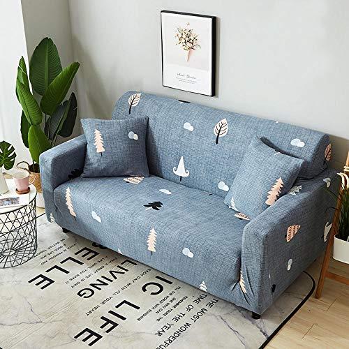 NLADTWLSD Funda de sofá de Alta Elasticidad, impresión Fundas para Sofa Antideslizante Cubierta para Sofa Protector para Sofás Lavable para el Salón (4 Asiento,Azul Claro)