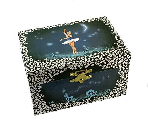 Schmuckkästchen / Schmuckschatulle / Schmuckdose aus Holz mit Spieluhr und tanzender Ballerina (Ref: 22004) - Mistral Gagnant (Renaud)