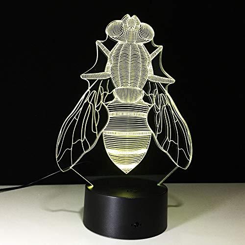 Die Fliege Sammlerstück Cartoon Figur bei Nacht Licht 3D LED Tischlampe Kinder Geburtstagsgeschenk Nachtzimmer Dekoration