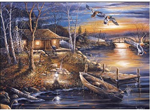 Great American Puzzle Factory Rustic Droppin' In 1000 Piece Puzzle by Great American Puzzle Factory