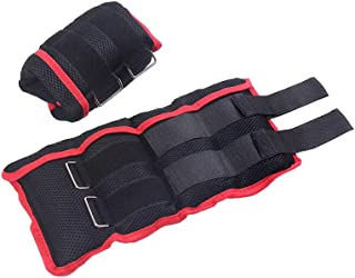 RAKU アンクルウェイト 重さ調整可能 5つ袋調節 2個入セット合計 2kg 3kg 4kg 5kg 8kg 10kg可選 筋トレ ウォーキング ダイエット エクササイズ 体幹トレーニング 通気性抜群 耐久性手足両用 洗濯可 リストウェイト リスト