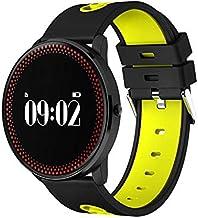 RTRY Smartwatch Fitness Tracker Cf007 Pulsera Inteligente a Prueba de Agua con frecuencia cardíaca Presión Arterial Pronóstico del Tiempo Recuerde Fitness Amarillo