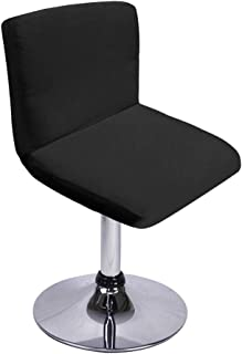 SUMTREE Funda para silla de bar con respaldo, extraíble y lavable, decoración de banquete para la cocina, mesa de desayuno, taburete, decoración de silla (negro)