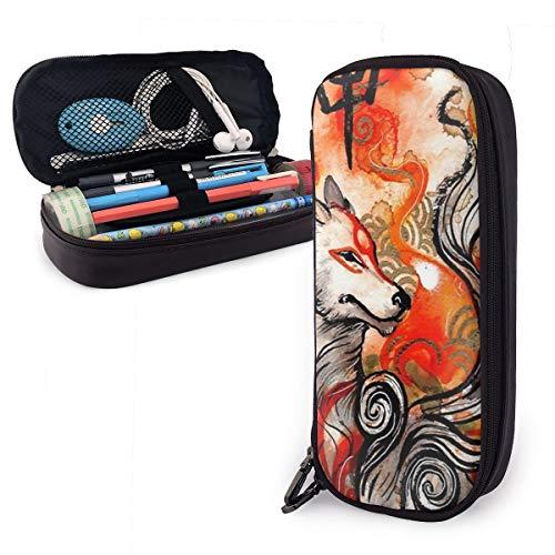 Okami Amaterasu Leather Pencil Case Cute Pencil Holder