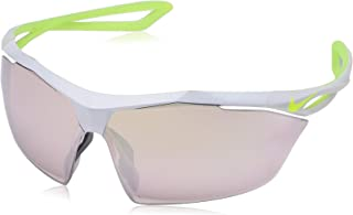 NIKE EV0914-070 Vaporing M Frame Speed Tint with Extra White Lens Sunglasses, Pure Platinum/Volt