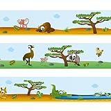 WANDKINGS Bordüre Tierwelt Australiens Länge: 450 cm, selbstklebend, für's Kinderzimmer