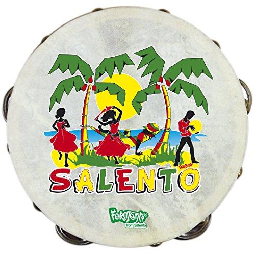 TAMBURELLO SALENTO PIZZICA - gadget souvenir salentino in legno_designed by Fermento Italia