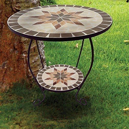 linoows Blumentisch Blumenständer Constanza, Mosaik Tisch im Mediterrane Stil