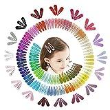 VCOSTORE 150 pezzi Fermagli per capelli a scatto Bella forcina a forma di forcina in metallo colorato per accessori per capelli per bambini