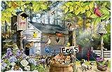 Huzkc Birds On A Wire Juguetes educativos para Adultos para niños, Rompecabezas de Madera clásico, 300/500/1000 Hojas descompresión