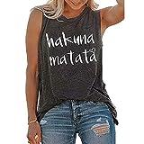 Camiseta sin mangas Hakuna Matata Love Chaleco Casual Cuello Redondo Ropa de Verano Tank Tops Camiseta