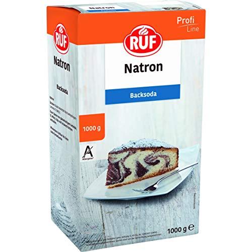 RUF Natron Pulver Großpackung Back-Soda ohne Allergene Backtriebmittel Natriumhydrogencarbonat für Küche und Haushalt, 2er Pack (2 x 1000 g)