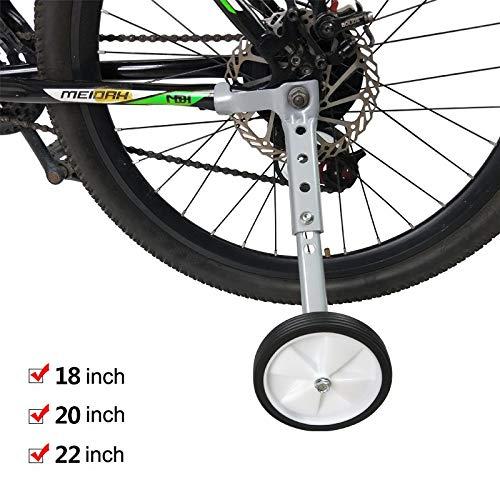 Ruote Supplementari Laterali Adulti Bambini biciclette a velocità variabile Mountain bike ruota ausiliaria da 20 pollici 22 pollici 18 pollici biciclette passeggino Accessori ( Color : 18-22inch )