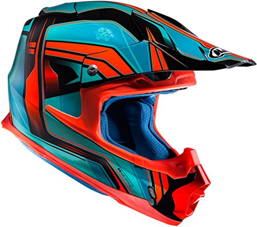 HJC Helmets HJC FX-CROSS - PISTON / MC4 - Crosshelm/Endurohelm/Motorradhelm, GröàŸe:M 17820408, Rot/Blau, M (57/58)