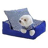 Sistemazioni per dormire Letto per Animali Domestici Lavabile Rettangolare Blu Velluto Tridimensionale Nido Cane Buco Letto Gatti e Cani Letto (Size : 49cm)