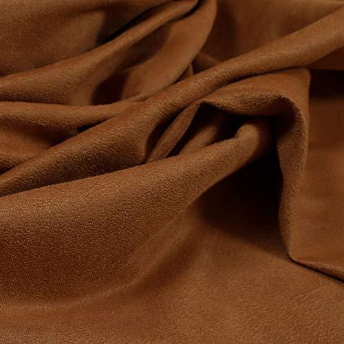 Tela de ante sintético lisa. Nuevo color naranja oxidado. Para proyectos de tapicería, óxido, Per Metre