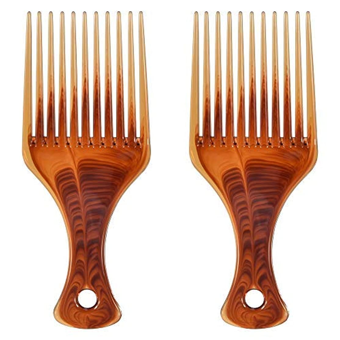 磁気別の床Mosuch Hair Pick, 2pcs Super Smooth Picks Comb Hairdressing Wide Tooth Modeling Big Tooth Comb [並行輸入品]