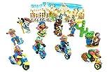 Größe der Figuren ca. 5cm Kinder Überraschung Sorpresa Bambini Tutti i 10 Personaggi dei Motocoyoti (Set Completo)