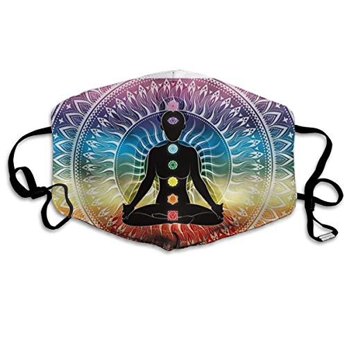 Regenboog Mandala Yoga Zeven Chakras Indian Unisex Volledige Coverage Buis Gezicht Masker Bandanas UV Bescherming Hals Gaiter Hoofdband