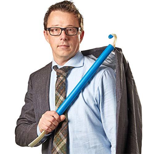 Anziehhilfe, LeeMon EIN Schaft verfügt über eine Kunststoff-beschichtete S-Typ-Hose, Socken, Kleidung, Schuhe und EIN Hilfsende (Blau)