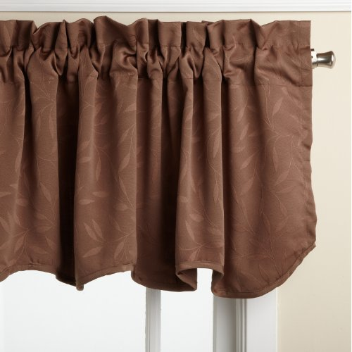 Lorraine Home Fashions Whitfield 52-inch by 18-inch Scalloped Valance,...