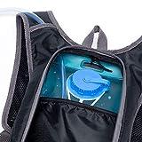 Mochila con Bolsa de Agua 2 litros, 43 x 26 cm - Accesorios Deportivos - Mochila de Senderismo/Mochila para Correr/Bicicleta de Montaña con Depósito de Agua. Mochila Hidratación.